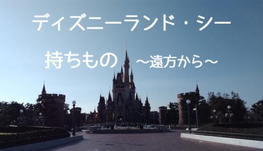 【遠方】ディズニーランド便利な持ち物リスト【冬〜春3月・子供】
