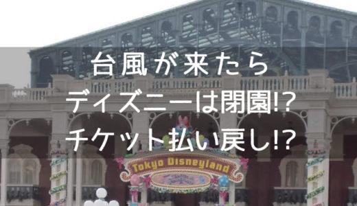 【遠方からディズニーランド・台風情報】閉園するの!?チケット払い戻しできる!?アトラクション中止!?